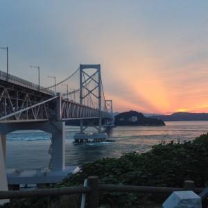 鳴門海峡大橋_サンセット